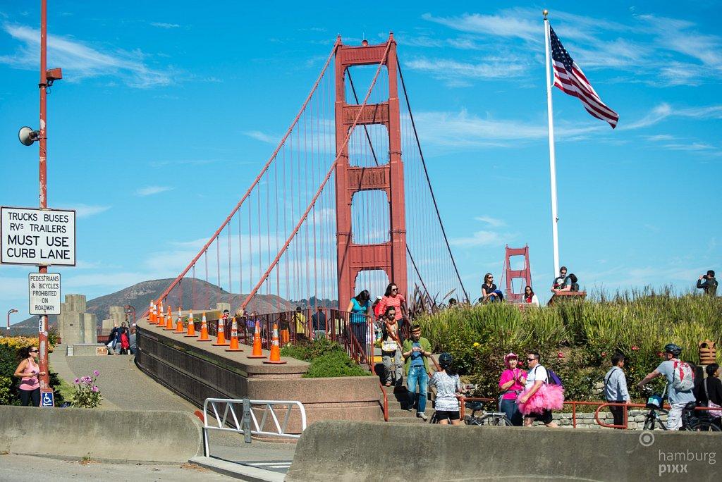 Zufahrt Golden Gate Bridge