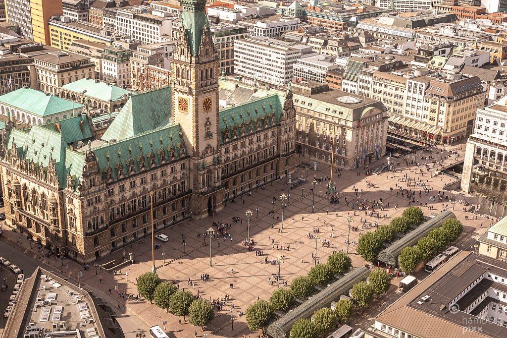 Der Rathausmarkt von Oben